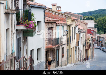 Calle del Arrabal, Hostalric, Province of Girona, Catalonia, Spain - Stock Photo
