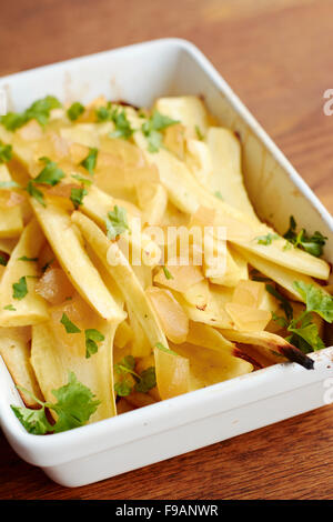Ginger Roasted Parsnips - Stock Photo