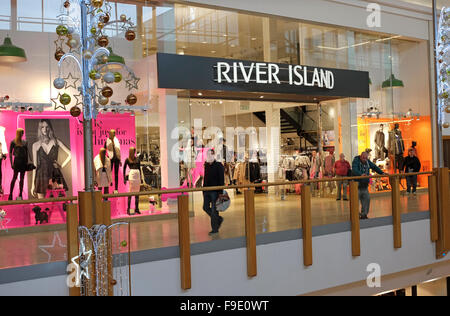 river island store in shopping mall, norwich, norfolk, england - Stock Photo