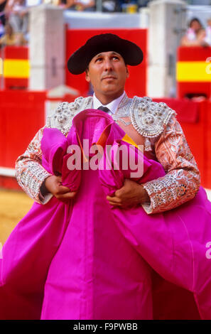 Bullfighter.Bullfight at the Plaza de Toros, Granada, Andalusia, Spain, Europe - Stock Photo