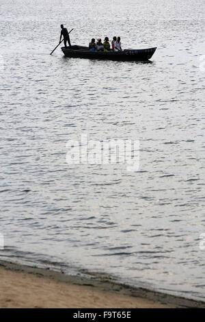 Canoe on lake Togo. - Stock Photo