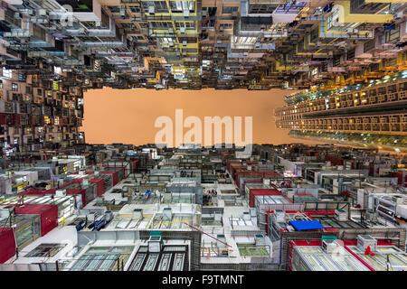 High-density apartment buildings in Quarry Bay, Hong Kong - Stock Photo