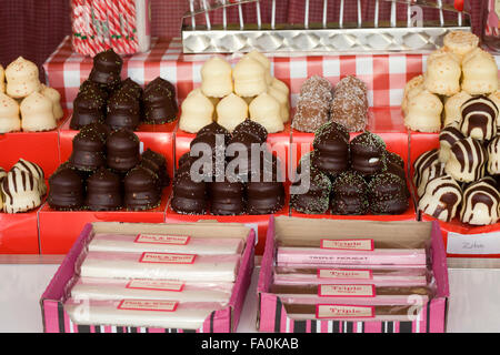 Novelty Candy made from Chocolate and Marzipan - Stock Photo