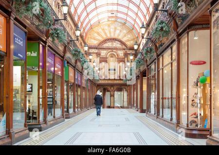 Central Arcade - an Edwardian Shopping Arcade in Newcastle upon Tyne - Stock Photo