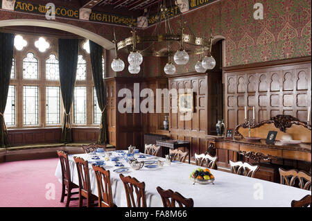The Dining Room at Knightshayes Court, Devon. - Stock Photo