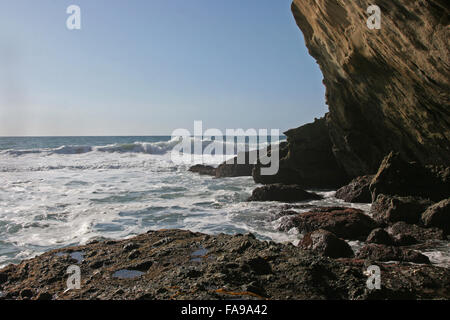 rocky coastline, Laguna Beach CA - Stock Photo