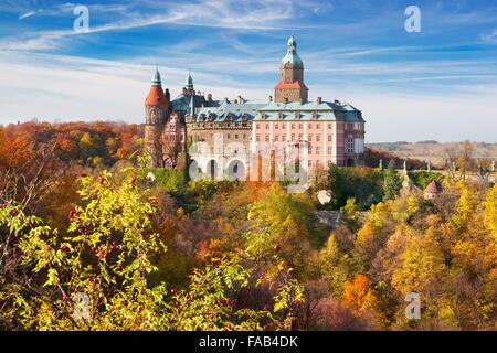 Ksiaz castle - Sudeten mountains, Silesia, Poland - Stock Photo