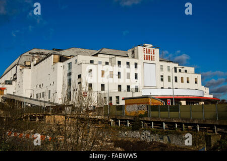 The back of Earls Court Exhibition Centre, West London. Image taken from Brompton Road - Stock Photo
