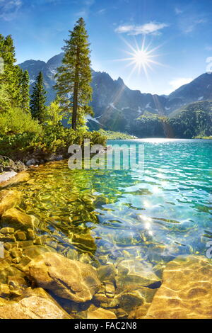 Morskie Oko lake, Tatra mountains, Poland - Stock Photo