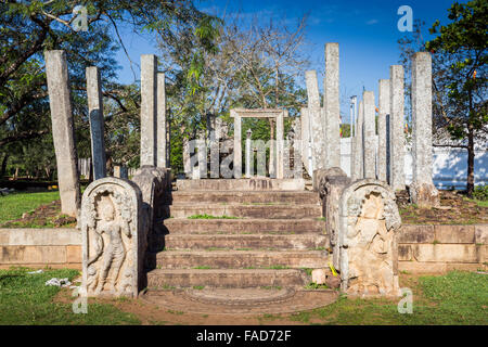 Ruins of Sacred City of Anuradhapura, UNESCO World Heritage Site, North Central Province, Sri Lanka, Asia - Stock Photo