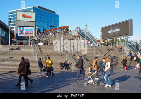 Shoppers at Westfield Stratford City shopping center, London England United Kingdom UK - Stock Photo