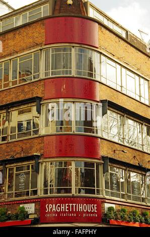 London, Spaghetti House, famous Italian restaurant - Stock Photo