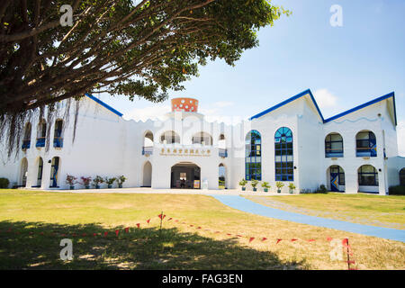 Taitung, Taiwan - June 13, 2015: The most beautiful Taitung Conunty Fong Yuan Elementary School - Stock Photo