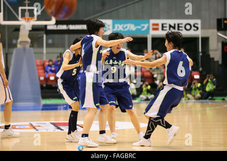 Tokyo Metropolitan Gymnasium, Tokyo, Japan. 28th Dec, 2015. Gifu joshi team group, DECEMBER 28, 2015 - Basketball - Stock Photo