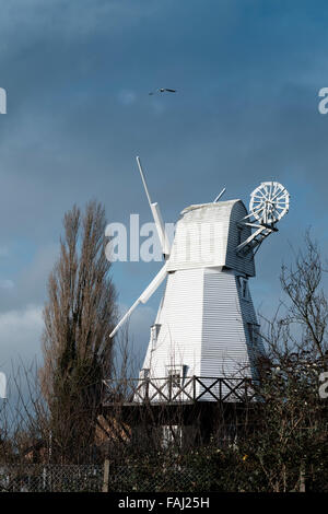 The distinctive and famous Rye Mill is a grade-two listed building and has been the inspiration for artists and - Stock Photo