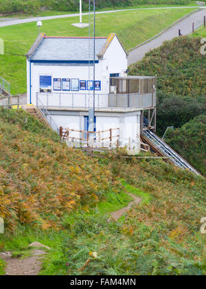 The Lizard RNLI Lifeboat Station, Kilcobben Cove, Lizard Peninsula, Cornwall, England, UK - Stock Photo