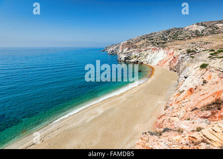 The beach Paleochori in Milos, Greece - Stock Photo