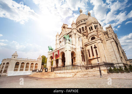 Basilica of the Sacred Heart, Paris, France - Stock Photo