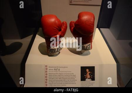 National Museum of American History muhammed ali gloves rumble in the jungle 1974 - Stock Photo