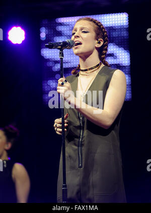 Free Radio Live 2015 at Genting Arena - Performances  Featuring: Jess Glynne Where: Birmingham, United Kingdom When: - Stock Photo