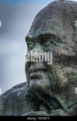 Sir Peter Scott Bust - Stock Photo