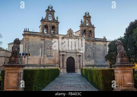 Church of Santa María de los Reales Alcázares, 13th - 19th century, in Plaza de Vázquez Molina, Úbeda, Jaén province, - Stock Photo