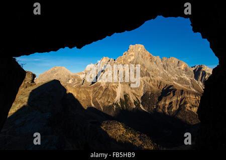 The Dolomites. The Pale di San Martino massif. - Stock Photo