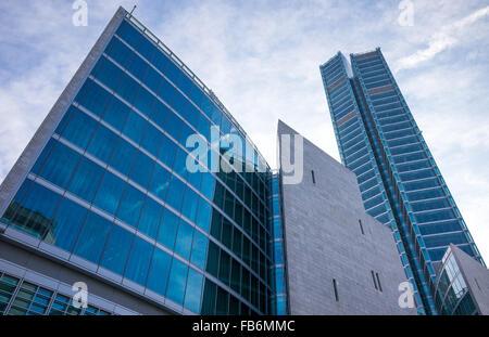 Italy, Milan, Porta Nuova, the Palazzo Lombardia Towers - Stock Photo
