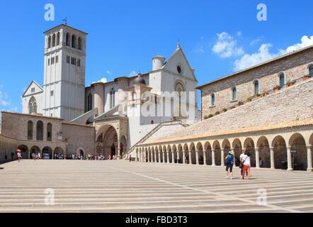 Papal Basilica of St. Francis of Assisi - Stock Photo
