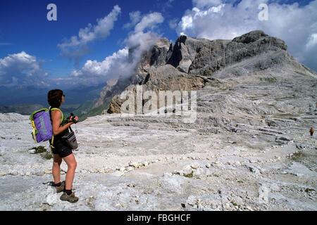 Plateau of Pale di San Martino, San Martino di Castrozza, Trentino Alto Adige, Italy - Stock Photo