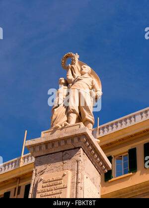 War Memorial on the Rock of Gibraltar at the entrance to the Mediterranean Sea - Stock Photo
