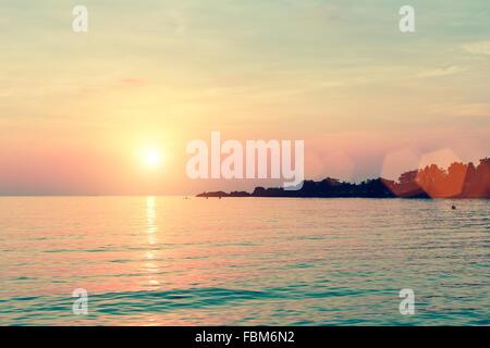 Beautiful sunset in Laguna seaside. - Stock Photo