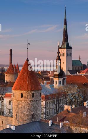 Old Town City View Tallinn Estonia - Stock Photo