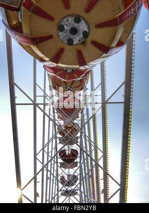 Detail Of Ferris Wheel Against Sky - Stock Photo