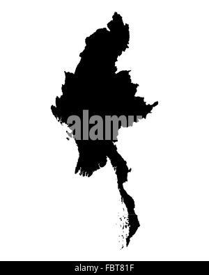 Map of Myanmar - Stock Photo
