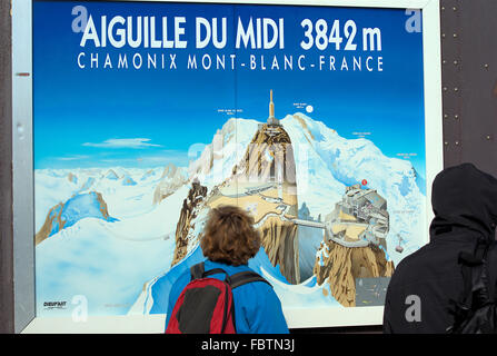 Cable car Aiguille-du-Midi - Stock Photo