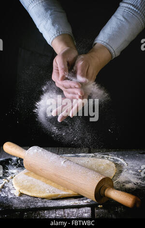 Rolled out dough - Stock Photo