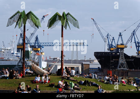 Park Fiction at St. Pauli in Hamburg - Stock Photo