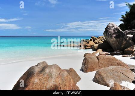 Seychelles Anse Georgette - Stock Photo