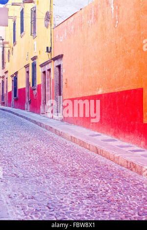 Colorful Streets in San Miguel de Allende - Stock Photo