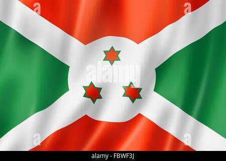 Burundian flag - Stock Photo