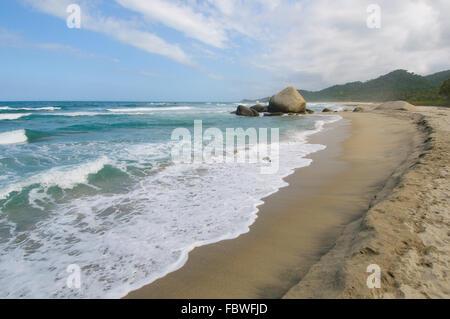 Arrecifes Beach, Tayrona national park, Colombia - Stock Photo