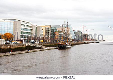 Dublin Docklands. Ireland - Stock Photo