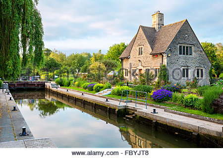 Iffley Lock. Oxford,  England - Stock Photo