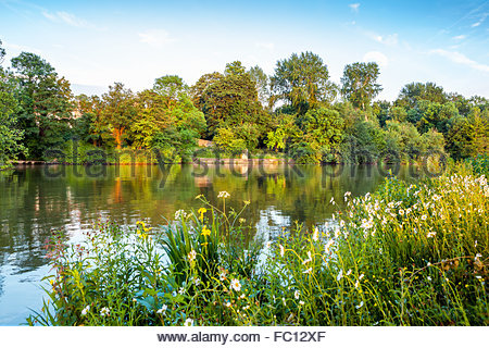 Thames River. Oxford, England - Stock Photo
