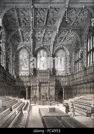 The House of Lords, 19th century, London, England - Stock Photo