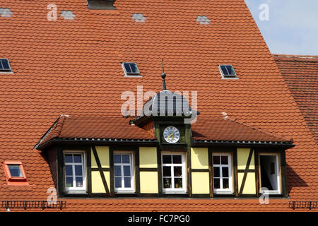 the old post office in Stolpen,germany - Stock Photo