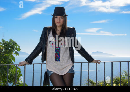 Portrait Of A Young Beautiful Fashion Model Posing - Stock Photo