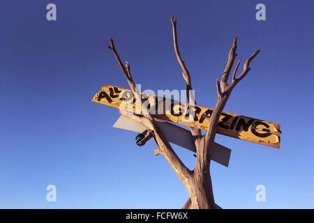Restaurant sign in the Australian Outback. Flinders Ranges, South Australia. - Stock Photo