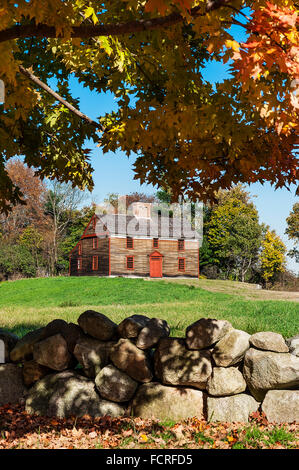 Captain William Smith House, Battle Road Trail between Lexington and Concord, Minute Man National Historical Park, - Stock Photo